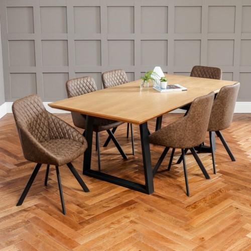 Những bộ bàn ăn gỗ mang phong cách Rustic - Ảnh 6.