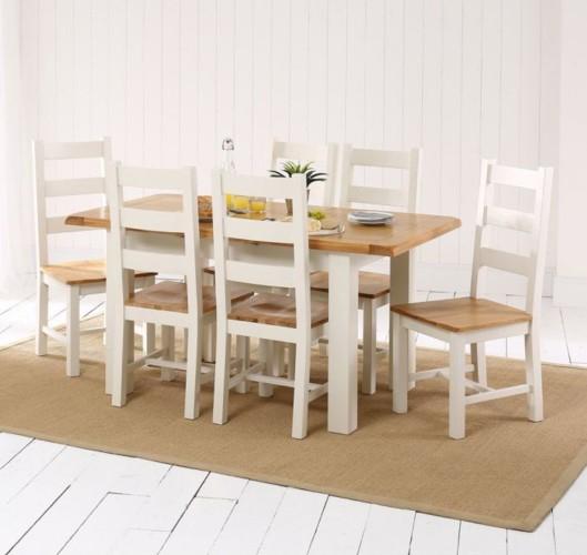 Những bộ bàn ăn gỗ mang phong cách Rustic - Ảnh 7.