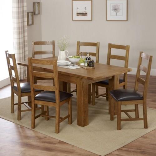 Những bộ bàn ăn gỗ mang phong cách Rustic - Ảnh 8.