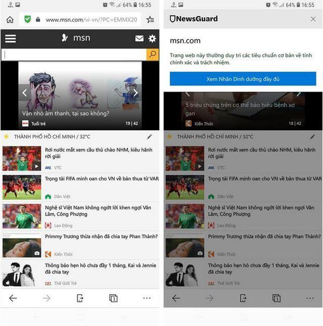 Trình duyệt Microsoft Edge thêm tính năng cảnh báo khi người dùng đọc tin tức giả mạo - Ảnh 3.