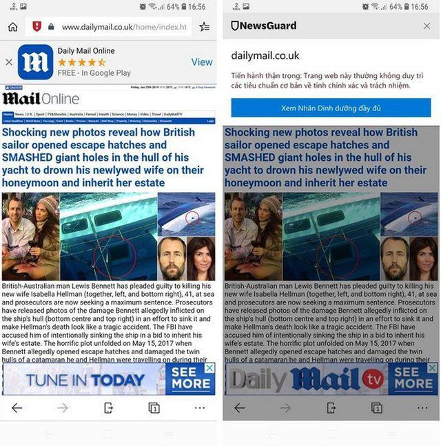 Trình duyệt Microsoft Edge thêm tính năng cảnh báo khi người dùng đọc tin tức giả mạo - Ảnh 4.