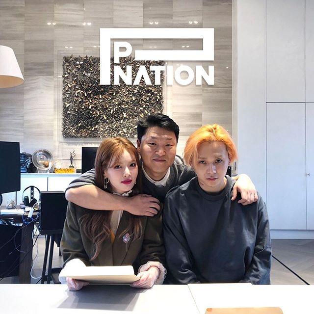 PSY chiêu mộ HyunA và người tình kém tuổi - Ảnh 2.