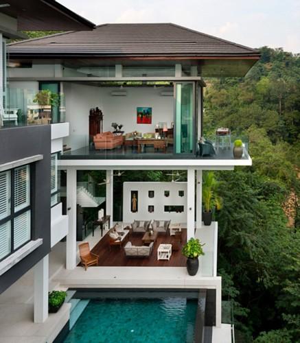 Biệt thự tuyệt đẹp ẩn mình trong rừng nhiệt đới - Ảnh 8.