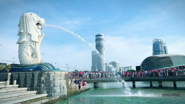 Hé lộ những điều bí mật ít biết về tượng sư tử biển nổi tiếng Singapore - Ảnh 1.