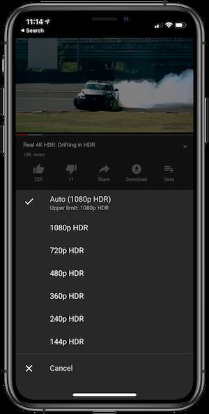 YouTube hỗ trợ chế độ HDR cho iPhone 11 Pro và 11 Pro Max - Ảnh 1.