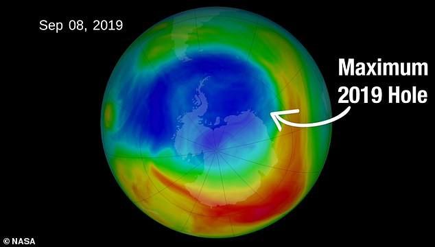 Lỗ thủng tầng ozone thu lại nhỏ nhất từ năm 1982 đến nay - Ảnh 2.