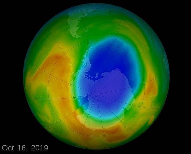Lỗ thủng tầng ozone thu lại nhỏ nhất từ năm 1982 đến nay - Ảnh 1.