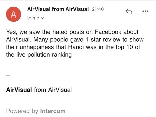 AirVisual chặn người dùng Việt vì hứng chịu bão đánh giá 1 sao - Ảnh 4.