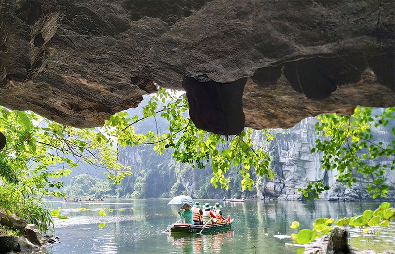 A stunning view seen at the exit of the cave
