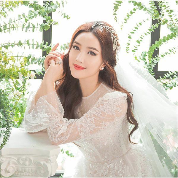 Bảo Thy khoe vẻ đẹp ngọt ngào trong bộ ảnh cưới - Ảnh 3.