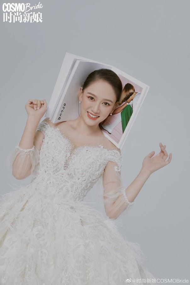Trần Kiều Ân hóa cô dâu xinh đẹp - Ảnh 9.