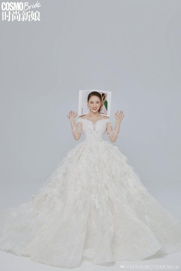 Trần Kiều Ân hóa cô dâu xinh đẹp - Ảnh 3.