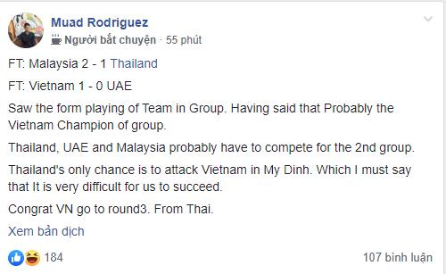 Thua ngược Malaysia, CĐV Thái Lan bi quan, chúc ĐT Việt Nam sẽ nhất bảng G - Ảnh 4.
