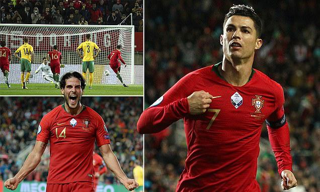 ĐT Bồ Đào Nha 6-0 ĐT Litva: Ronaldo lập hat-trick - Ảnh 2.