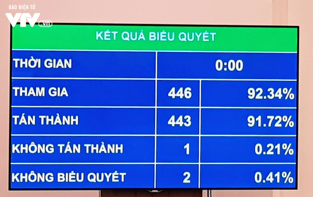 Quốc hội thông qua Luật Dân quân tự vệ (sửa đổi) với tỷ lệ 91,72% - Ảnh 1.