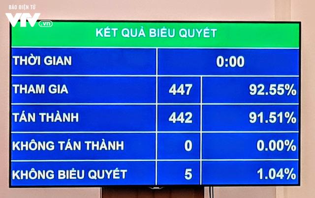 91,51% đại biểu Quốc hội tán thành thông qua Luật Xuất cảnh, nhập cảnh của công dân Việt Nam - Ảnh 1.