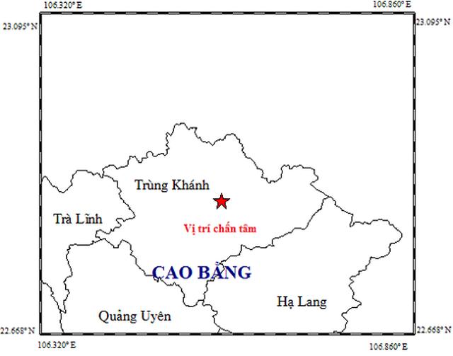 Cao Bằng tiếp tục hứng trận động đất thứ 4 trong ít ngày - Ảnh 1.