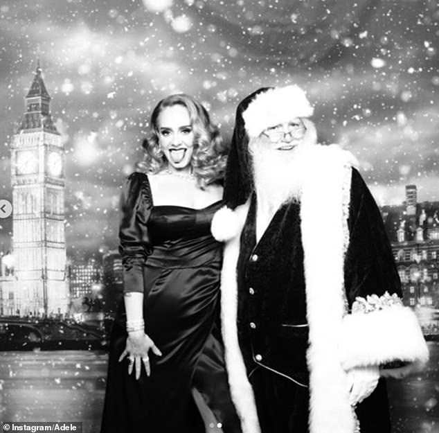 Adele bất ngờ tung hình ảnh cực lạ nhân dịp Giáng sinh - Ảnh 2.