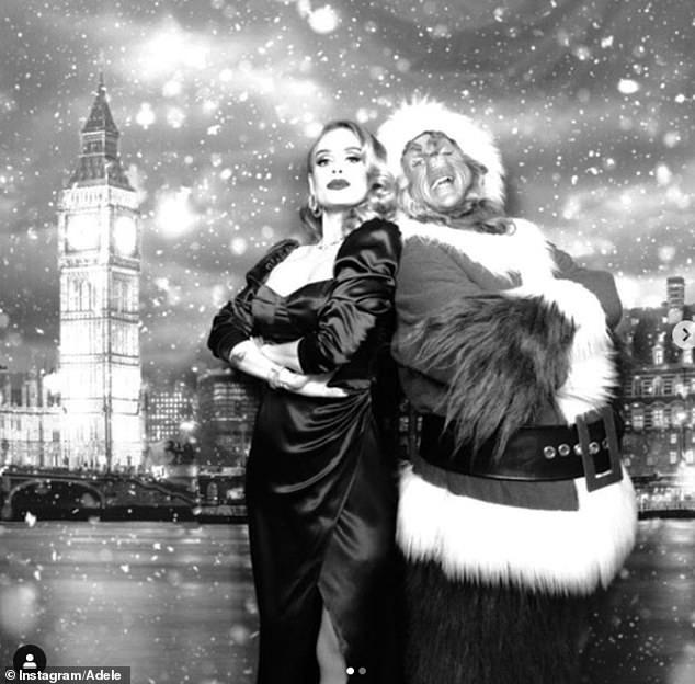 Adele bất ngờ tung hình ảnh cực lạ nhân dịp Giáng sinh - Ảnh 1.