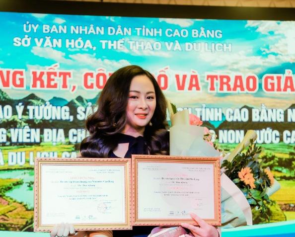 NTK Vũ Thảo Giang giành 2 giải thưởng tại quê hương Cao Bằng - Ảnh 1.
