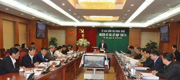 Toàn văn Thông cáo Kỳ họp 41 của Ủy ban Kiểm tra Trung ương - Ảnh 1.