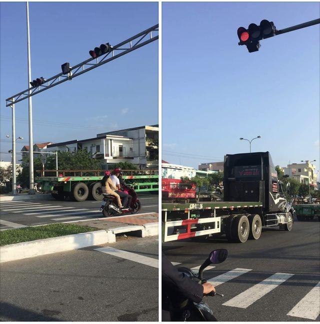 Phạt nguội đoàn xe container vượt đèn đỏ - Ảnh 1.