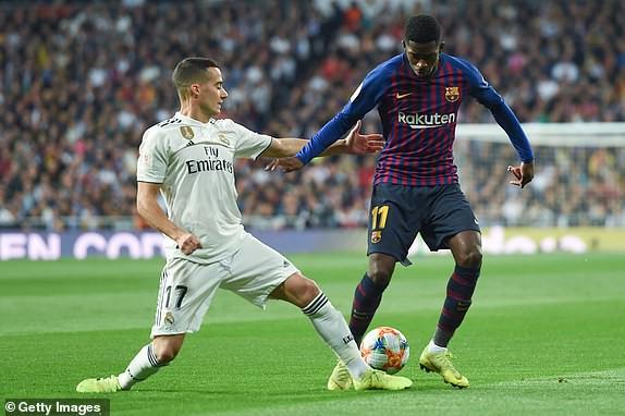 ẢNH: Real Madrid gục ngã trước Barcelona trong trận cầu Siêu kinh điển - Ảnh 1.