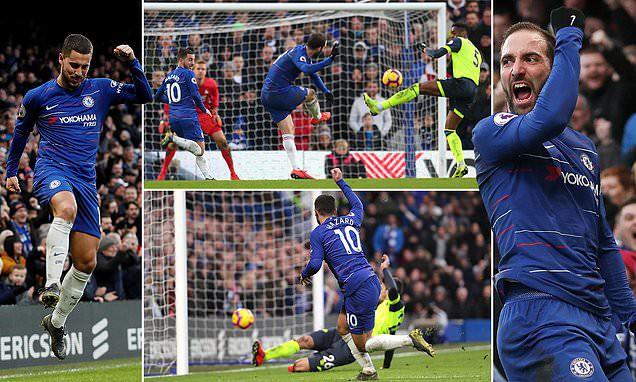 Ngoại hạng Anh: Hazard và Higuain toả sáng, Chelsea thắng đậm 5-0 Hudderfiled - Ảnh 1.