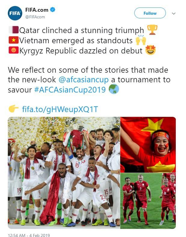 FIFA ca ngợi màn trình diễn ấn tượng của ĐT Việt Nam tại Asian Cup - Ảnh 1.