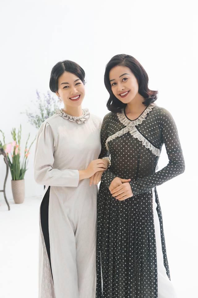 MC Phí Linh, Hồng Nhung diện các mẫu áo dài trong 100 năm qua - Ảnh 9.