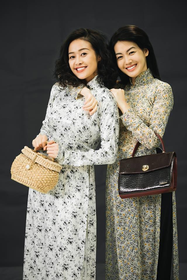 MC Phí Linh, Hồng Nhung diện các mẫu áo dài trong 100 năm qua - Ảnh 13.