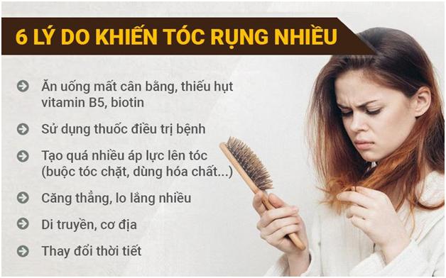 Rụng tóc nguyên nhân do đâu và cách chữa trị nhanh nhất hiện nay - Ảnh 1.