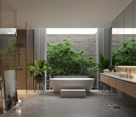 Mẫu thiết kế phòng tắm mở khiến bạn mê mẩn - Ảnh 1.