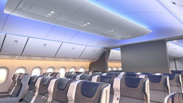 Mô hình cung cấp những hình ảnh đầu tiên bên trong chiếc Boeing 777X mới - Ảnh 1.