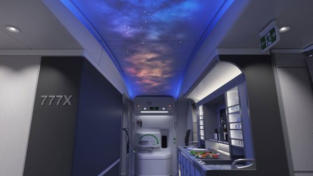 Mô hình cung cấp những hình ảnh đầu tiên bên trong chiếc Boeing 777X mới - Ảnh 3.