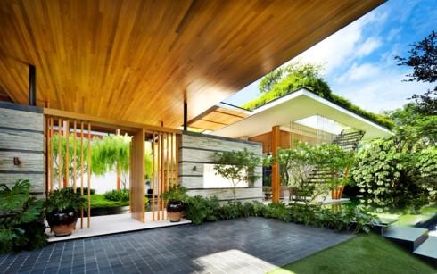 Ngôi nhà xanh mướt với vườn trên mái - Ảnh 4.