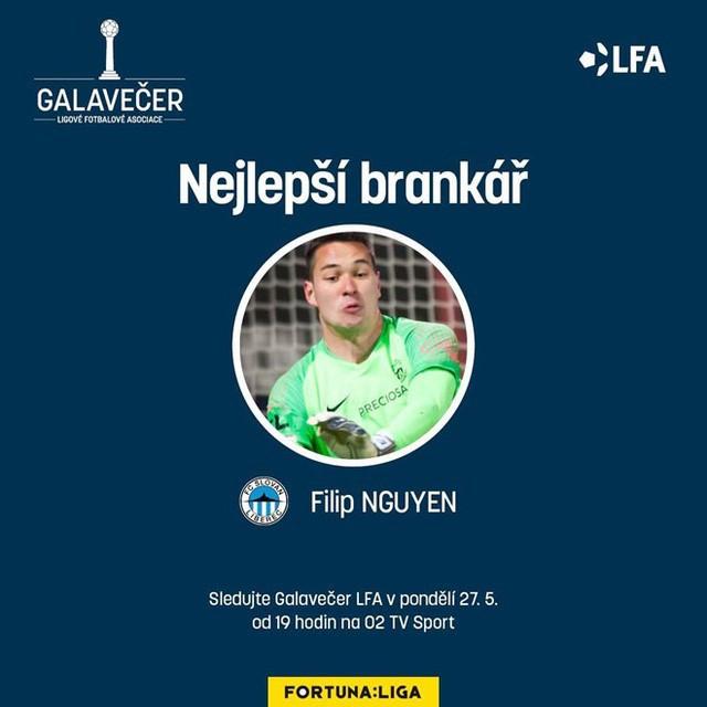 Thi đấu ấn tượng, Filip Nguyễn giành giải thủ môn xuất sắc nhất mùa - Ảnh 1.