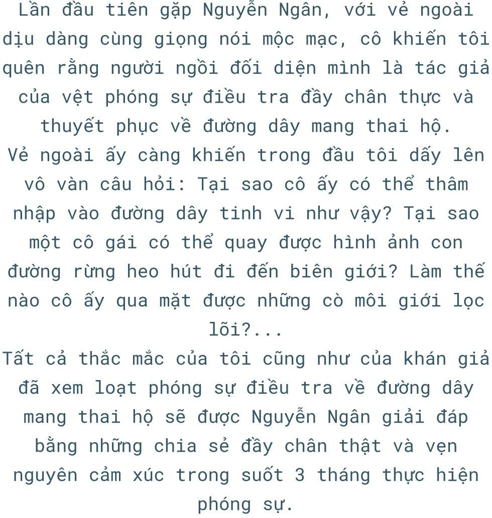 Phóng viên Nguyễn Ngân và 3 tháng nhập vai phụ nữ mang thai hộ - Ảnh 1.