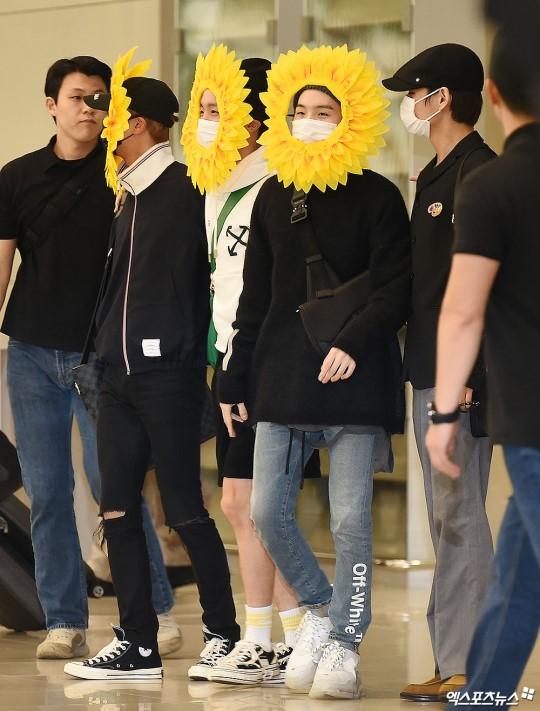 BTS gây choáng với thời trang kiểu... hoa hướng dương - Ảnh 5.