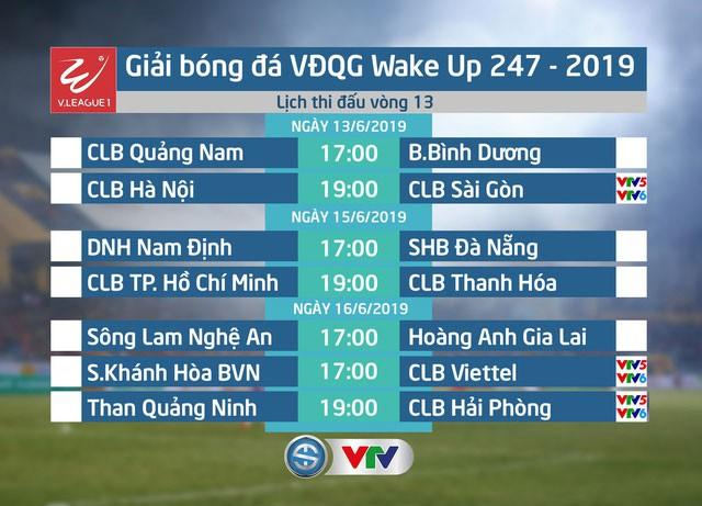 Lịch thi đấu và trực tiếp vòng 13 V.League 1-2019 - Ảnh 1.