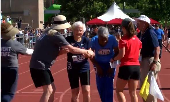 Cụ bà 103 tuổi phá kỷ lục chạy bộ ở nước Mỹ - Ảnh 1.