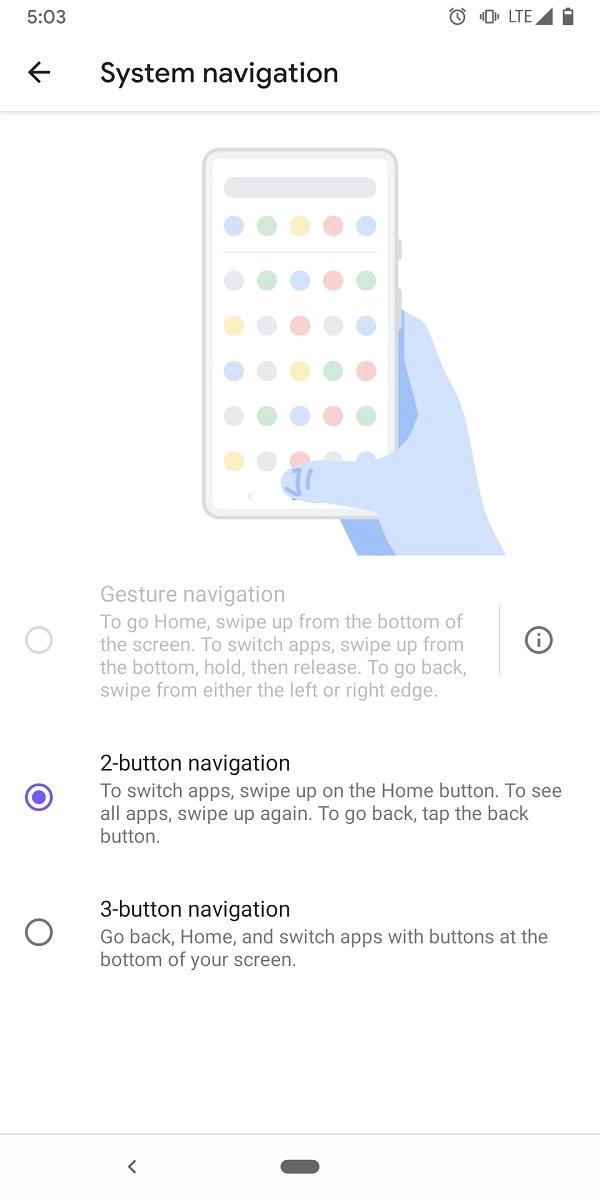 Android Q sẽ chỉ cho phép sử dụng điều hướng bằng cử chỉ mặc định của Google - Ảnh 2.