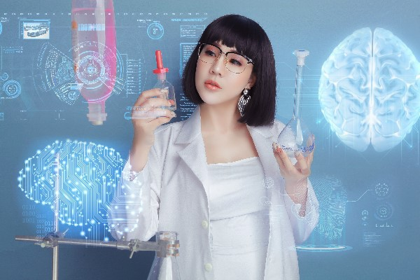 Hoa hậu Lê Đỗ Minh Thảo đẹp - độc - lạ trong bộ ảnh về ngành xét nghiệm - Ảnh 2.