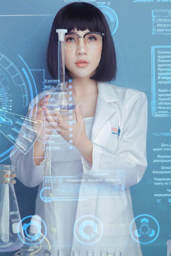 Hoa hậu Lê Đỗ Minh Thảo đẹp - độc - lạ trong bộ ảnh về ngành xét nghiệm - Ảnh 5.