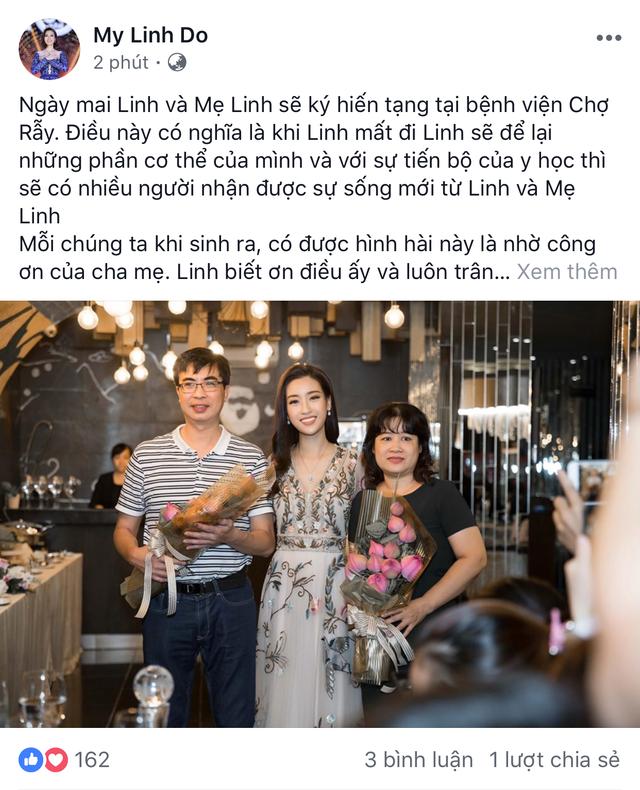 Hoa hậu Đỗ Mỹ Linh cùng mẹ đăng ký hiến tạng - Ảnh 1.