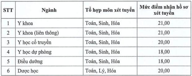 Đai học Y dược Hải Phòng và Thái Bình cùng lấy điểm sàn cao nhất 21 - Ảnh 2.