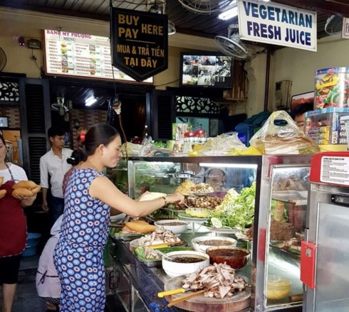 Ba Phuong banh mi shop in Hoi An (Photo: truyenhinhdulich.vn)