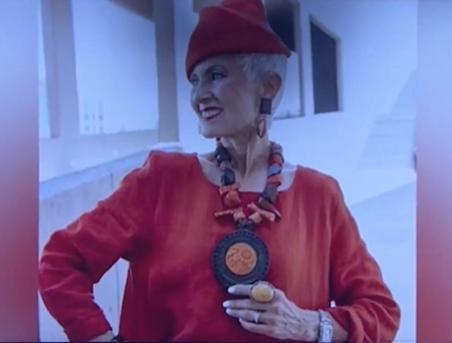 Bà già phong cách khuấy động Tuần lễ Thời trang New York - ảnh 2
