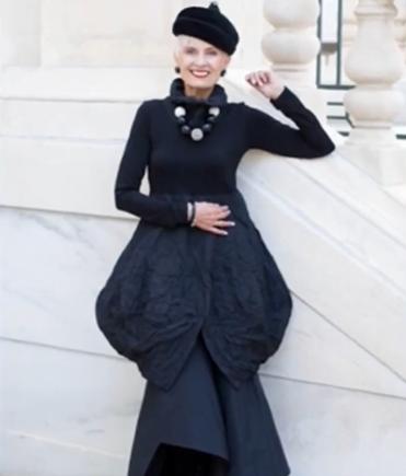 Bà già phong cách khuấy động Tuần lễ Thời trang New York - ảnh 4