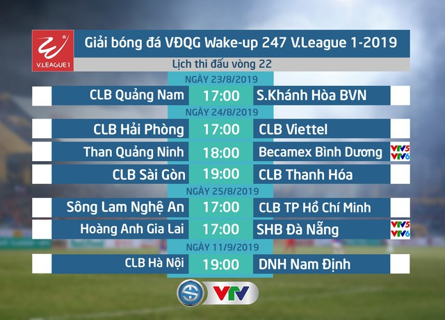 Lịch thi đấu và trực tiếp vòng 22 V.League 2019 hôm nay, 23/8: CLB Quảng Nam - Sanna Khánh Hòa - Ảnh 1.